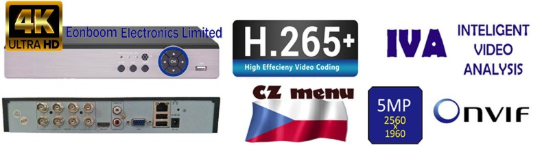 IVA, H265+, XVR, ONVIF rekordery