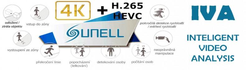 IVA IP kamery - s inteligentní video analýzou obrazu, H265, 4K