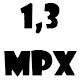 1,3 MPx