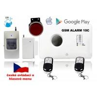 GSM alarm set - zvuk a ovládání v ČEŠTINĚ / ALABASTR II - 10C