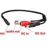 Mikrofon pro bezpečnostní DVR/NVR s předzesilovačem CCTV/AHD/CVI kamery