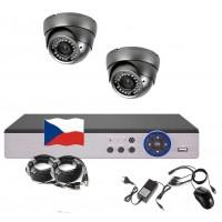 4CH 1080p AHD kamerový set STARLIGHT CCTV- DVR a 2x venkovní dome IR kamer, 4x ZOOM, CZ menu, P2P, HDMI, IVA, H265+