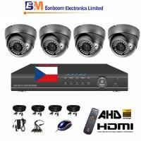 4CH 1080p AHD kamerový set STARVIS CCTV- DVR a 4x venkovní dome AHD IR kamer, 4xZOOM, vč. příslušenství,1920x1080px, CZ menu,P2P, HDMI, 2 MPx