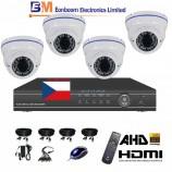 8CH 1080p AHD DVR kamerový set- STARVIS CCTV -DVR s LAN, P2P a 4x AHD IR kamer,4x ZOOM,  vč. příslušenství, 1920x1080px, BÍLÉ, CZ menu,P2P, HDMI, P2P, 2MPx