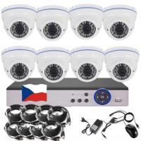 8CH 1080p AHD DVR kamerový set- STARLIGHT CCTV - DVR s LAN, P2P a 8x AHD IR kamer, 4xZOOM, BÍLÉ, CZ menu,P2P, HDMI, P2P, IVA, H265+