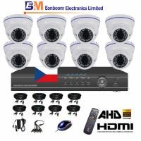 8CH 1080p AHD DVR kamerový set- STARVIS CCTV - DVR s LAN, P2P a 8x AHD IR kamer, 4xZOOM,  vč. příslušenství, 1920x1080px, BÍLÉ, CZ menu,P2P, HDMI, P2P, 2MPx