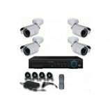 4CH 1080p AHD kamerový set CCTV - DVR s LAN a 4x venkovních bullet AHD IR kamer, 1920x1080px/CH, CZ menu,P2P, HDMI