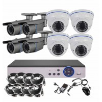8CH 5MPx STARVIS kamerový set CCTV - DVR s LAN a 8x venkovních vari 2,8-12mm bullet/dome IR kamer, 2688×1960px/CH, CZ menu,P2P, HDMI, IVA, H265+
