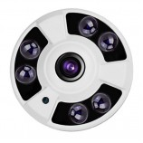 4MPx AHD/TVI/CVI kamera s rybí oko - FISH EYE,, IR 40m, IP65, HICO-HFIF06M40K