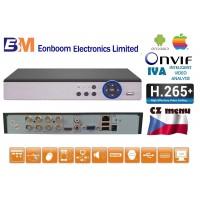 8CH DVR/XVR MHD-0801 5.0 MPx H.265+, IVA, HDMI, P2P, AUDIO, ONVIF, CZ menu NOVINKA