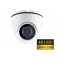 "8MPx  1/1,8"" AHD  DOME Omnivision 4K UHD hybridní kamera ZONEWAY HD925, WDR, IK10, 4mm, EXIR IR 20m"