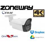 "8MPx 4K H265 1/1,8"" OMNIVISION IP kamera EXIR IR40m, POE, IP66, SD, ONVIF, WDR, Dropbox, GOOGLE (ZONEWAY NC980)"