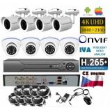 8CH 8MPx AHD kamerový set - 4K CCTV - DVR s LAN a 8x dome + bullet, 3840x2160px/CH, CZ menu, P2P, HDMI, IVA, H265+