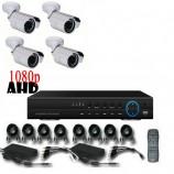 8CH 1080p AHD kamerový set - DVR s LAN a 4x bullet AHD IR kamer, 1920x1080px/CH, CZ menu,P2P, HDMI, 2,0MPx