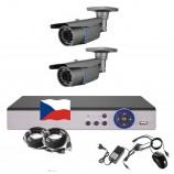 4CH 1080p AHD kamerový set STARLIGHT CCTV - DVR s LAN a 2x bullet IR kamer,4xZOOM,CZ menu,P2P, HDMI, 2MPx,  IVA, H265+