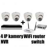 Kamerový IP FULL HD set, 4x MHK 361L + NVR6004 + router + switch 4 + 1
