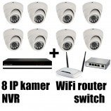 Kamerový FULL HD IP set, 8x MHK 361L + NVR6109F + router + switch 8 + 1