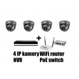 Kamerový IP set, 4x MHK 316LP FULL HD, vari + NVR6004 + router + POE switch 4 + 1